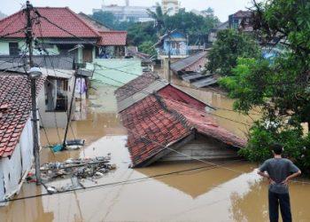 Ilustrasi rumah terendam banjir/ist.net
