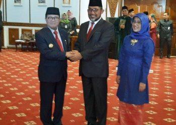 Foto: Sudirman saat dilantik Fachrori jadi sekda
