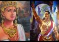 Lukisan Gajah Mada (kanan) dan Tribhuwana Tunggadewi karya Mpu Haris.